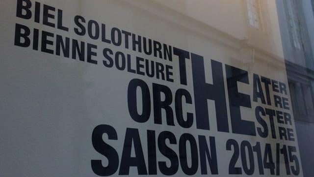 Schriftzug Theater Orchester Biel Solothurn.
