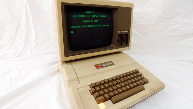 Apple II Computer mit Bildschrim und Tastatur