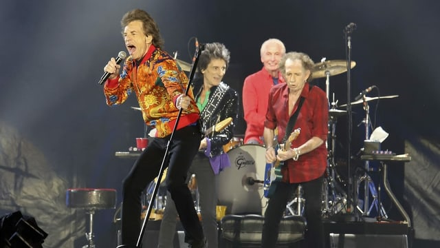 Die Rollings Stones auf der Bühne