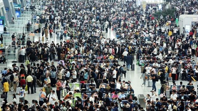 Die chinesischen Bahnen erwarten in den kommenden zehn Tagen 108 Millionen Reisende.