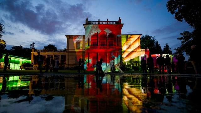 Die Villa Wesendonck in neuem Licht, kreiert von Pipilotti Rist zur Preisverleihung.