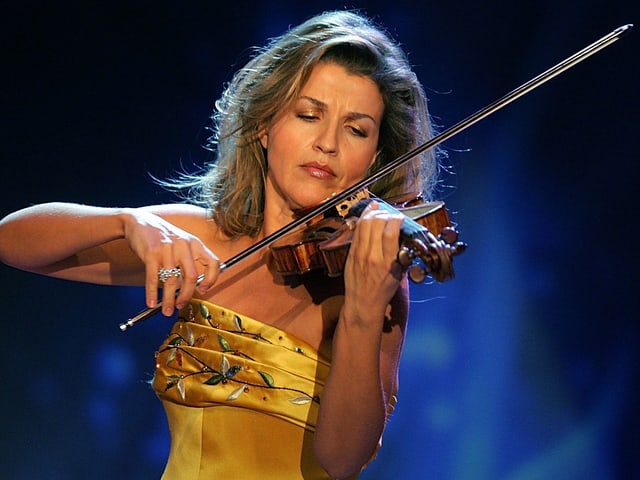 Die Geigerin Anne-Sophie Mutter.