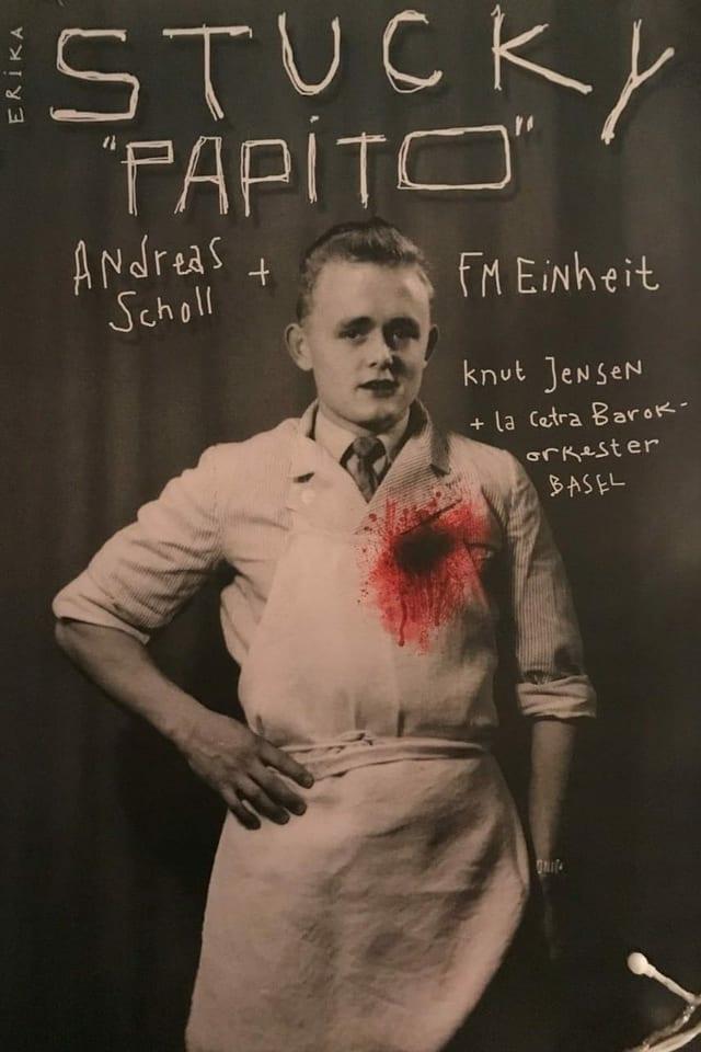 Plakat, auf dem ein junger Mann mit Blutfleck auf der Brust zu sehen ist.