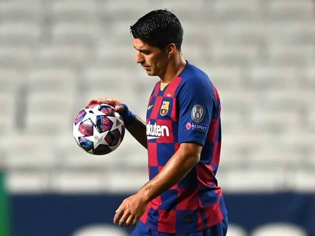 Luis Suarez bei der 2:8-Niederlage gegen die Bayern Mitte August.