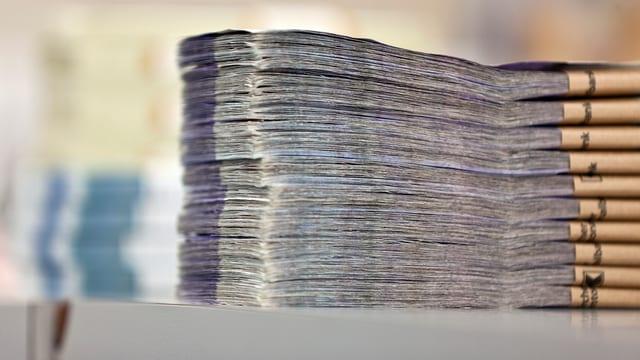 Ein Bündel Banknoten.