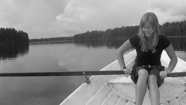 Daniela im Finnland-Urlaub