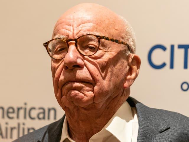 Rupert Murdoch in Nahaufnahme.