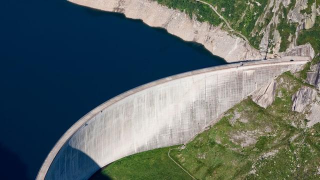 Ein Staudamm.