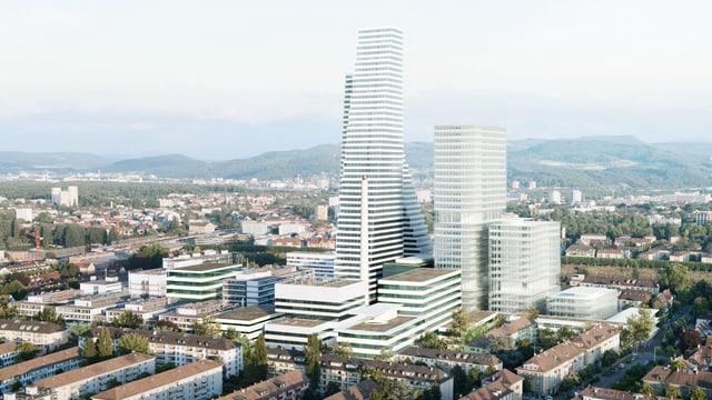 Visualisierung der neuen Roche-Bauten.