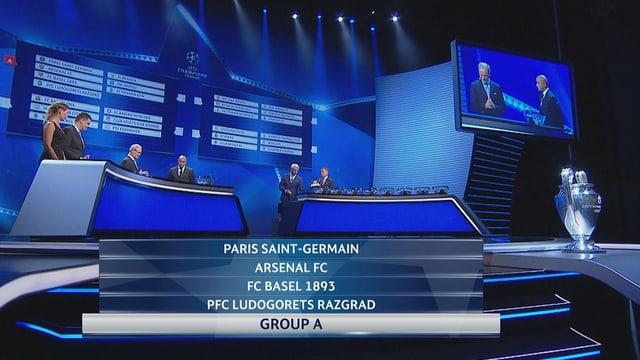 L'FC Basilea en la gruppa A.