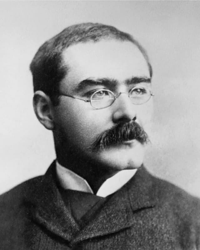 Nahaufnahme des Autors Kipling.
