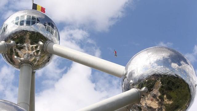 Das Atomium steht als Wahrzeichen für das Land Belgien