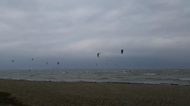 Kitsurfen am See