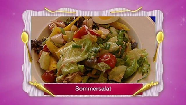 Sommersalat mit Thon und Ei