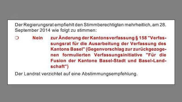 Graphische Darstellung in der Baselbieter Abstimmungsbroschüre.