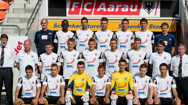 Das Kader des FC Aarau, Mannschaftsfoto.
