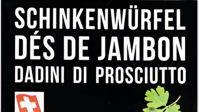 Il logo dal pachet da schambun cotg dal Denner.