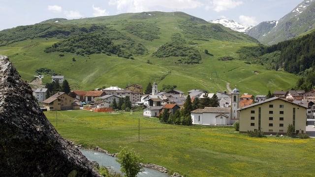 Das Dorf Bivio.