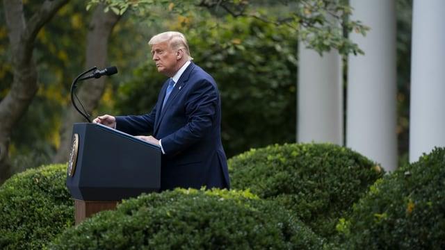 US-Präsident Turmp im Garten des Weissen Hauses