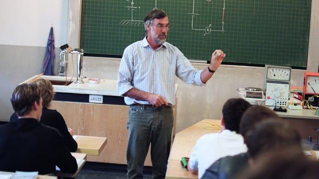 Lehrer unterrichtet Jugendliche.