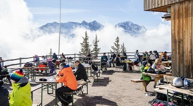 Ski-Terrasse.