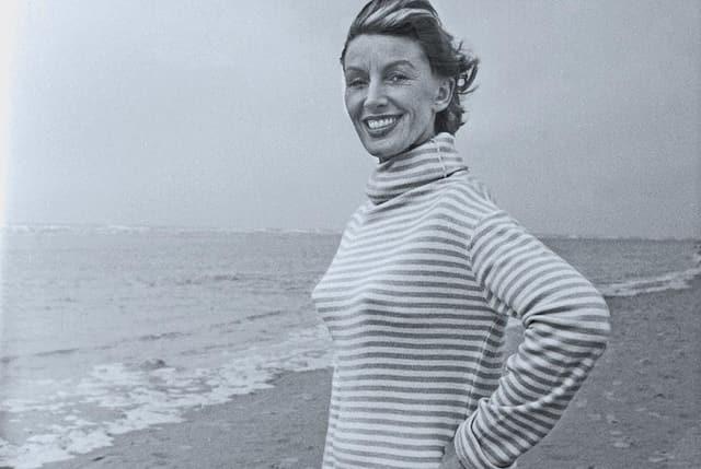 Frau am Meer.