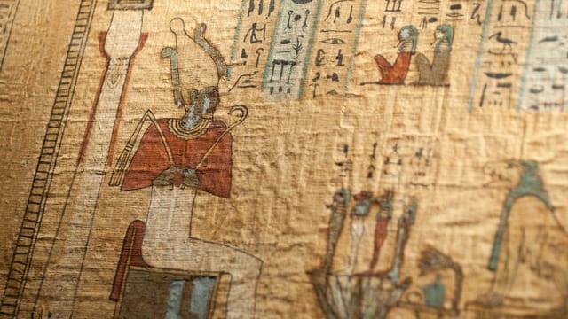 Alt-Ägyptische Papyrusrolle