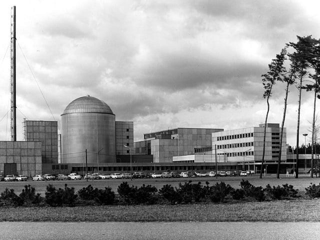 Schwarz weiss-Aufnahme der Anlage aus den 1960er Jahren.