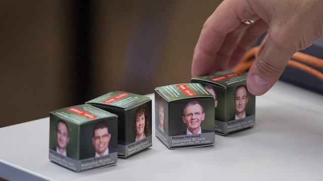 Schokowürfel von Kandidaten