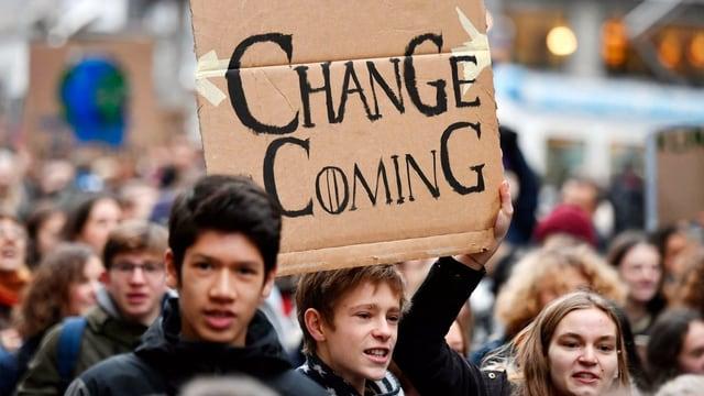 Schülerprotest am 21.12.2018 in Zürich
