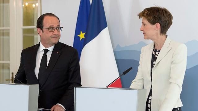 François Hollande e Simonetta Sommaruga.