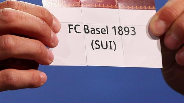 Ein Los mit Basel mit gezogen.