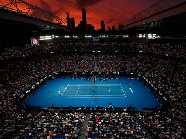 Die Australian Open in Melbourne finden in einem von Buschbränden betroffenen Gebiet statt.