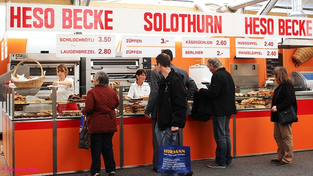 Bäckerei-Verkaufsstand an der Heso