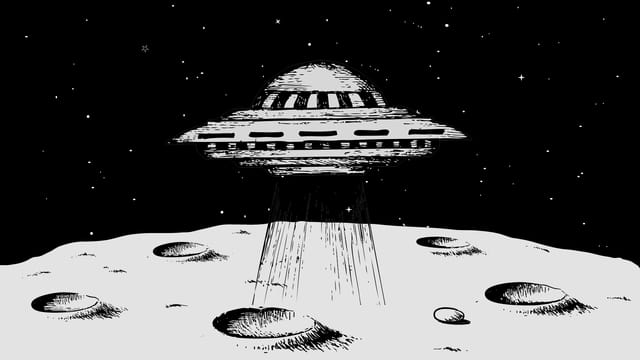 Raumschiff auf dem Mond