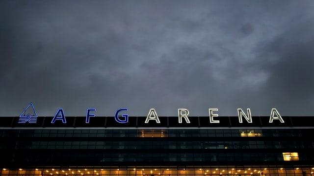 Schriftzug der AFG Arena.