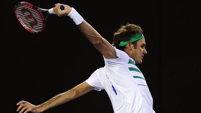 Il giugader da tennis Roger Federer.