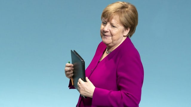 Porträt von Angela Merkel