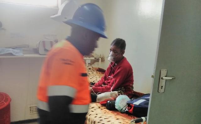 Elise Mutobo im Spital.