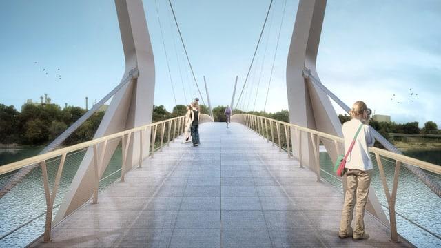 Visualisierung eine Brücke