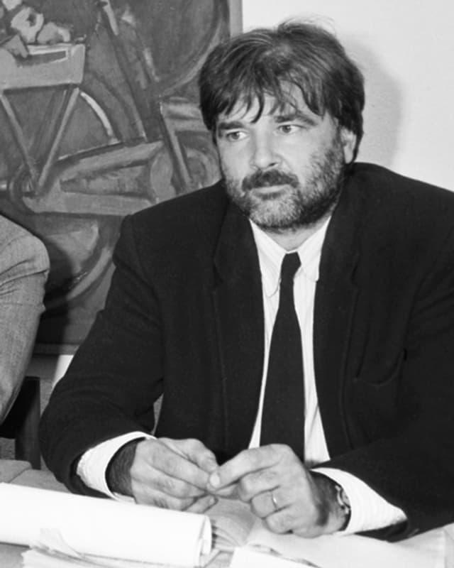 Daniel Vischer, anno 1989, damals noch als POCH-Sekretär.