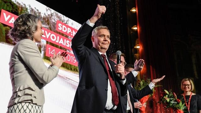 Il president da la partida socialdemocratica Antti Rinne.