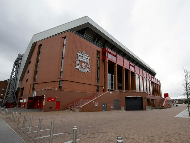 Stadion in Liverpool.