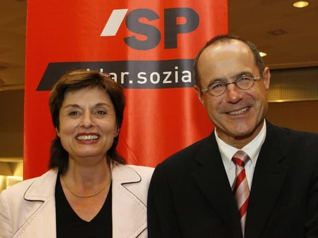 Claude Janiak und Anita Fetz