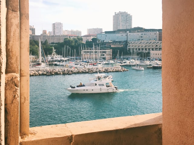 Blick aufs Meer von Marseille.