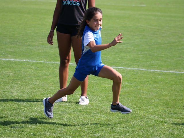Alessia am Laufen