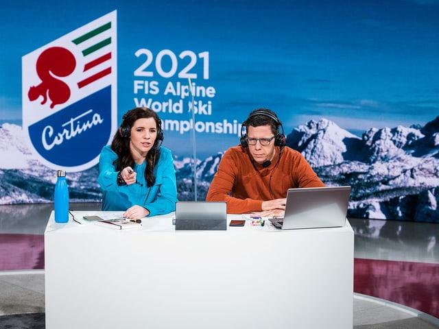 Tina Weirather und Marco Felder.