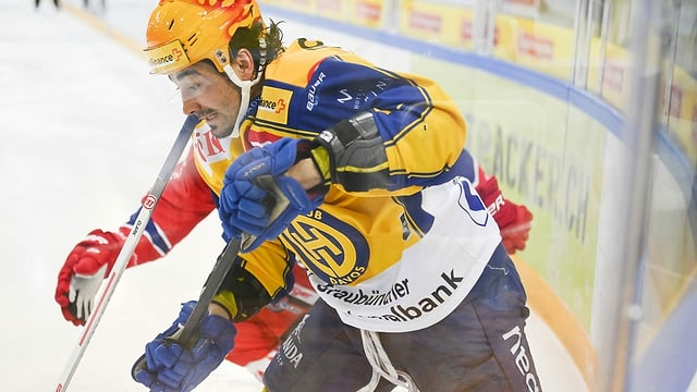 Giugaders da hockey en acziun