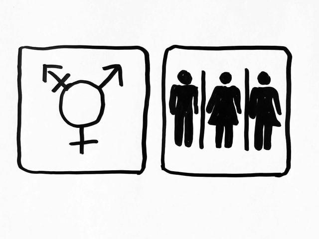 Grafik  mit All-Gender-WC-Zeichen