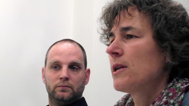 Marco Schwaninger, Schulvorsteher des Schulhauses Alpenblick und Katrin Huber, Präsidentin des Schaffhauser Stadtschulrates